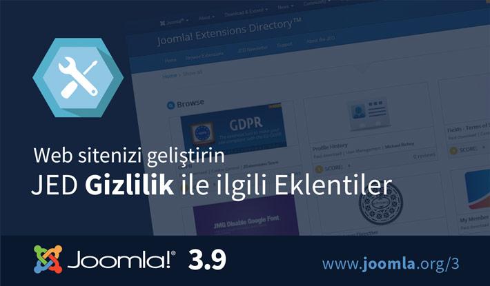 Joomla! 3.9 JED Gizlilik Eklentileri