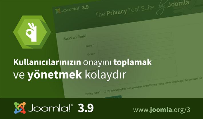Joomla! 3.9 Veri Gizliliği